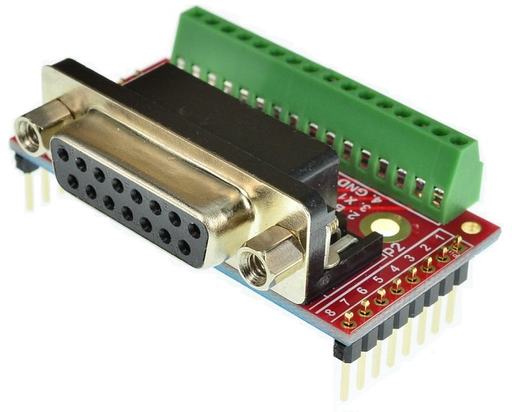 DB15 Female game port connector Breakout Board