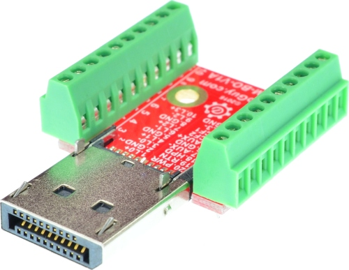 Displayport Male connector Breakout Board