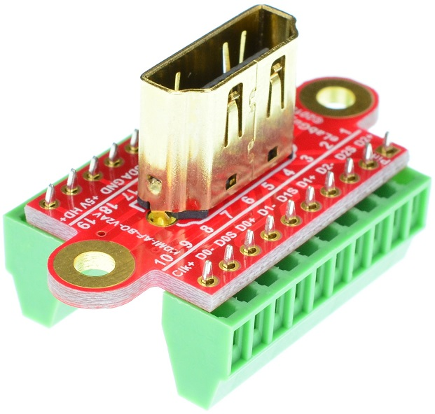 HDMI Type A Female vertical connector Breakout Board