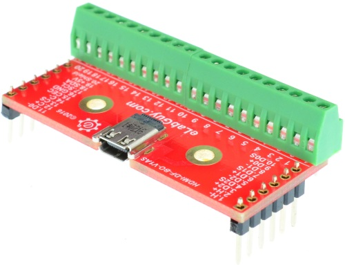 Micro HDMI Type D Female connector Breakout Board