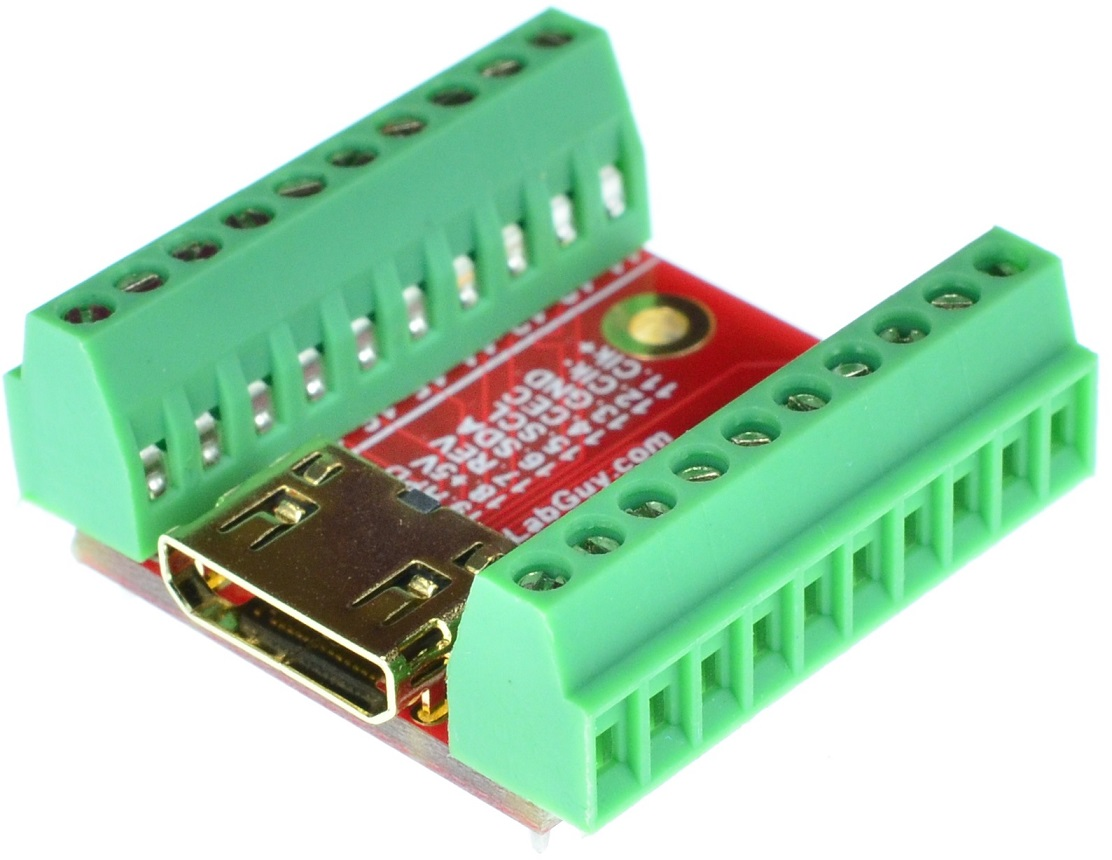 MINI HDMI Type C Female connector Breakout Board