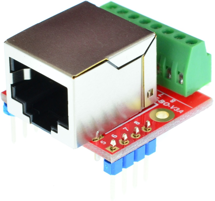 RJ45 8P8C Female Receptacle connector Breakout Board