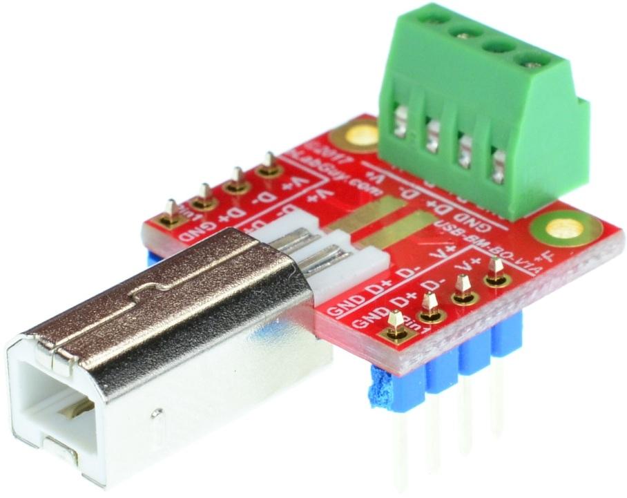 GoPro Mini USB Type B 10pin Female breakout board elabguy USBm-BF10-BO-V1A