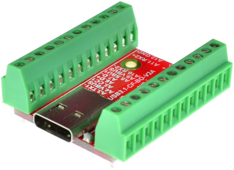 USB Type C Male Plug Breakout board v2.0 Saiko Systems Ltd.