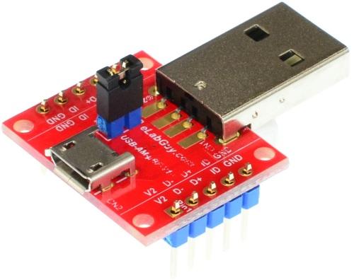micro USB 2.0 Type B Male to micro USB 2.0 Type B Female pass-through breakout