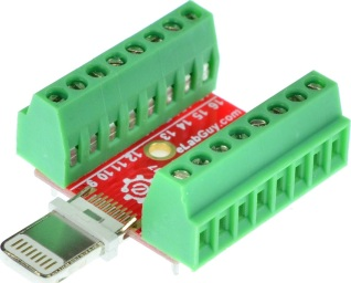 eLabGuy mDIN9-F-BO-V2A Mini Din 9 Female connector Breakout Board adapter